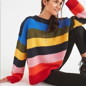 Urban outfitters rainbow Kari sweater